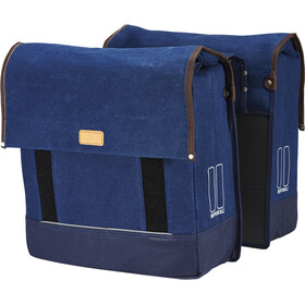 Basil Urban Fold Double Pannier Bag dark denim blue